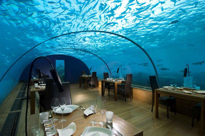 Underwater restaurant - Conrad Maldives